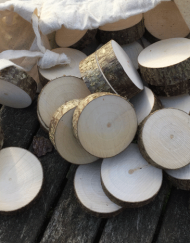 35 undrilled wood cookies