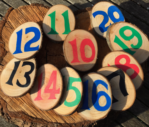10-20 wood cookie counters